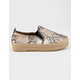 QUPID Raymond Beige Womens Espadrille Flatform Slip-On Shoes