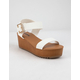 SODA Ayla White Womens Platform Sandals