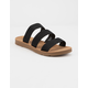 SODA Elastic 3 Strap Black Womens Sandals