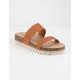 DIRTY LAUNDRY Double Play Cognac Womens Espadrille Flatform Sandals