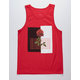 BLUE CROWN No More Love Red Mens Tank Top