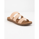 SODA Elastic 3 Strap Nude Womens Sandals