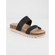 DIRTY LAUNDRY Double Play Black Womens Espadrille Flatform Sandals