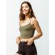 FULL TILT Stripe Seamless Olive Womens Crop Cami