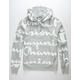 CHAMPION Reverse Weave All-Over Logo Giant Script Oxford Gray Mens Hoodie