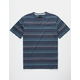 RVCA Avila Stripe Blue Mens T-Shirt