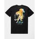 RIOT SOCIETY Tiger Sunset Black Mens T-Shirt