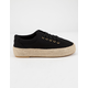 QUPID Lace Up Espadrille Black Womens Platform Shoes