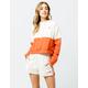 ADIDAS 3 Stripes Orange Womens Shorts
