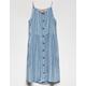 MIA CHICA Stripe Button Front High Neck Girls Dress