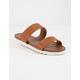 WILD DIVA 2 Strap Tan Womens Flatform Sandals