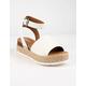 SODA Topic White Womens Espadrille Flatform Sandals