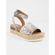 SODA Topic Beige Womens Espadrille Flatform Sandals