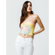 SKY AND SPARROW Ribbed Tie Dye Sage Womens Tube Top