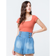 FULL TILT Essentials Ribbed Square Neck Rust Womens Crop Tee