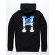 HUF Ice Rose Classic Black Mens Hoodie