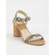DOLCE Vita Jadyn Snake Print Stella Womens Heeled Sandals