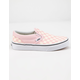 VANS Checkerboard Classic Slip-On Chalk Pink Girls Shoes