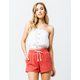 H.I.P. Button Front White Womens Tube Top
