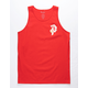 PRIMITIVE Dirty P Cherry Blossom Red Mens Tank Top