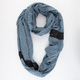 Pin Dot Lace Trim Infinity Scarf