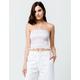 FULL TILT Smocked Stripe Womens Crop Tube Top