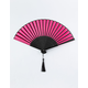 WENDYLOU ACCESSORIES Pink & Black Passion Fan