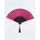 WENDYLOU ACCESSORIES Pink & Black Passion Fan