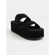 WILD DIVA Felicia Black Womens Platform Sandals
