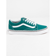 VANS Check Foxing Old Skool Quetzal Green & True White Womens Shoes