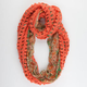 Figure 8 Knit/Woven Ditsy Infinity Scarf