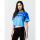 CHAMPION Streak Dye Blue Womens Crop Tee