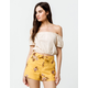 SKY AND SPARROW Crop Peasant Cream Womens Off The Shoulder Top