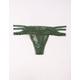 FULL TILT Cage Waist Lace Green Thong