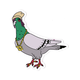 STICKIE BANDITS Trap Star Pigeon Sticker