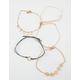 FULL TILT 5 Piece Filigree & Pearl Bracelets
