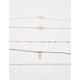 FULL TILT 5 Pack Feather & Filigree Choker Necklaces