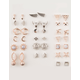 FULL TILT 20 Pairs Marble Arrow & Horn Stud Earrings