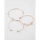 FULL TILT 3 Pack Love Cuff Bracelets