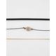 FULL TILT 3 Pack Amethyst Choker Necklaces