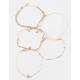 FULL TILT 5 Pack Rhinestone & Chain Bracelets
