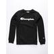 CHAMPION Premier Black Boys Sweatshirt