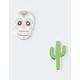 iDECOZ 2 Pack Sugar Skull Phone Charms