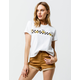 VANS Sunflower Check White Womens Tee
