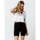 FULL TILT High Waisted Black Womens Biker Shorts