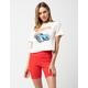 FULL TILT High Waisted Red Womens Biker Shorts