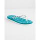DISNEY x ROXY Pebbles VI Teal Blue Girls Sandals