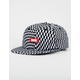 DGK Illusion Black & White Mens Strapback Hat