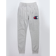 CHAMPION Reverse Weave Big C Chenille Logo Gray Mens Sweatpants