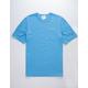 CHAMPION Embroidered Script Logo Light Blue Mens Pocket Tee